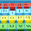 Colored plastic letters of ABC - Stock Photo