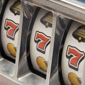 Jackpot three seven — Stock Photo