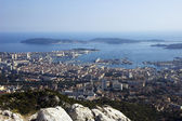 Bay of Toulon and city on french riviera — Stock Photo