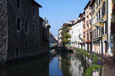 Annecy old town and river — Stock Photo