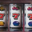 Stock Photo: Jackpot three seven