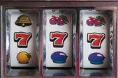 Jackpot tre sju — Stockfoto