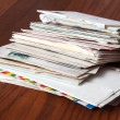 Stock Photo: Old Mail: Letters and Enveloppe