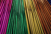 Colored incense sticks — Stock Photo