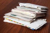 Old Mail: Letters and Enveloppe — Stock Photo