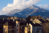 City of Chambery in Savoy, France and mountain of Nivolet — Stock Photo
