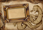 Frame with dragon — Stock Photo
