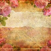 Grunge pozadí abstraktní s růží — Stock fotografie