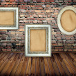 Frame on brick wall — Stock Photo