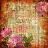 Abstrait grunge avec roses — Photo