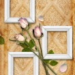 Vintage background with flower ornament - Stock Photo