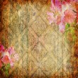 Stock Photo: Vintage wallpaper with flower