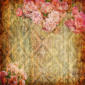 Vintage wallpaper with flower — 图库照片