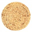 Woven round hand made background isolated — 图库照片