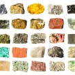 Mineral geology collection isolated - Stockfoto