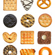 Cookies set isolated on the white background - Stock Photo