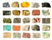 Mineral geology collection isolated — Stok fotoğraf