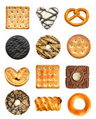 Cookies set isolated on the white background — Stock Photo