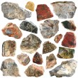 Mineral geology collection isolated - Foto Stock