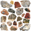 Mineral geology collection isolated - Photo