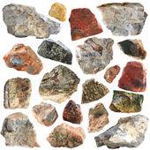Minerální geologickou expozici samostatný — Stock fotografie