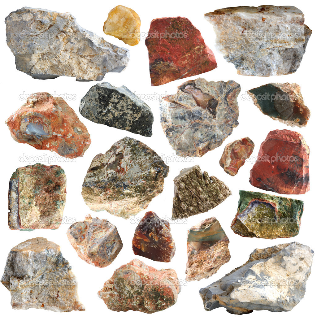 Mineral geology collection isolated — Stock Photo #9920125
