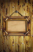 Frame on the bamboo wall — Stock Photo