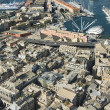 View of historical center and harbour of Genoa Italy — Stock Photo