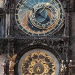 The astronomical clock in Prague, Czech republic in the Old Tow — Stock Photo #9211859