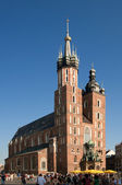 église mariacki cracovie, pologne — Photo