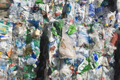 Recycle plastic pollution — Stock Photo