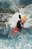Kayak on the wawes of the sea — Stok fotoğraf
