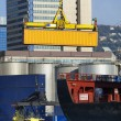 Maritime activity at the Port of Genoa,Italy — Stock Photo