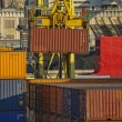 Stock Photo: Maritime activity at the Port of Genoa,Italy