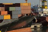 Maritime activity at the Port of Genoa,Italy — Stock Photo