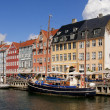 Nyhavn new pear Copenhagen Denmark — Stock Photo #9657177