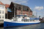 Nyhavn nya päron köpenhamn danmark — Stockfoto