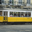 Typical Tramway in Lisboa,Portugal,Europe - Stock Photo