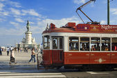 Typical Tramway in Lisboa,Portugal,Europe — Stock Photo