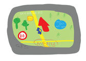 GPS navigation device cartoon style — Stock fotografie