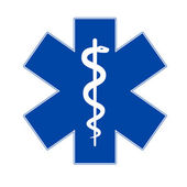 Emergency medicine symbol — Stock Vector