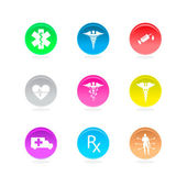 Medical symbols icons — Stock Vector