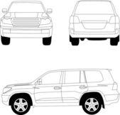 运动实用车辆车 — 图库照片