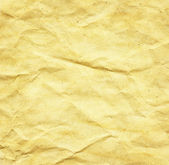 Crumpled aged paper texture — Stock Photo