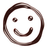 Chocolate smiling face — Stock Photo