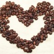 Stock Photo: Caffee beans heart