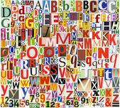 Newspaper, magazine alphabet — Stock Photo