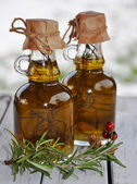 Olive oil with Rosemary — Stock Photo