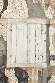 White old wooden shutter — Stock Photo