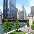Chicago Riverwalk in the Summertime — Stock Photo
